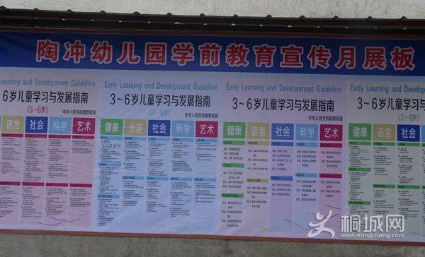 并在醒目位置悬挂宣传标语;组织幼儿园老师集中学习